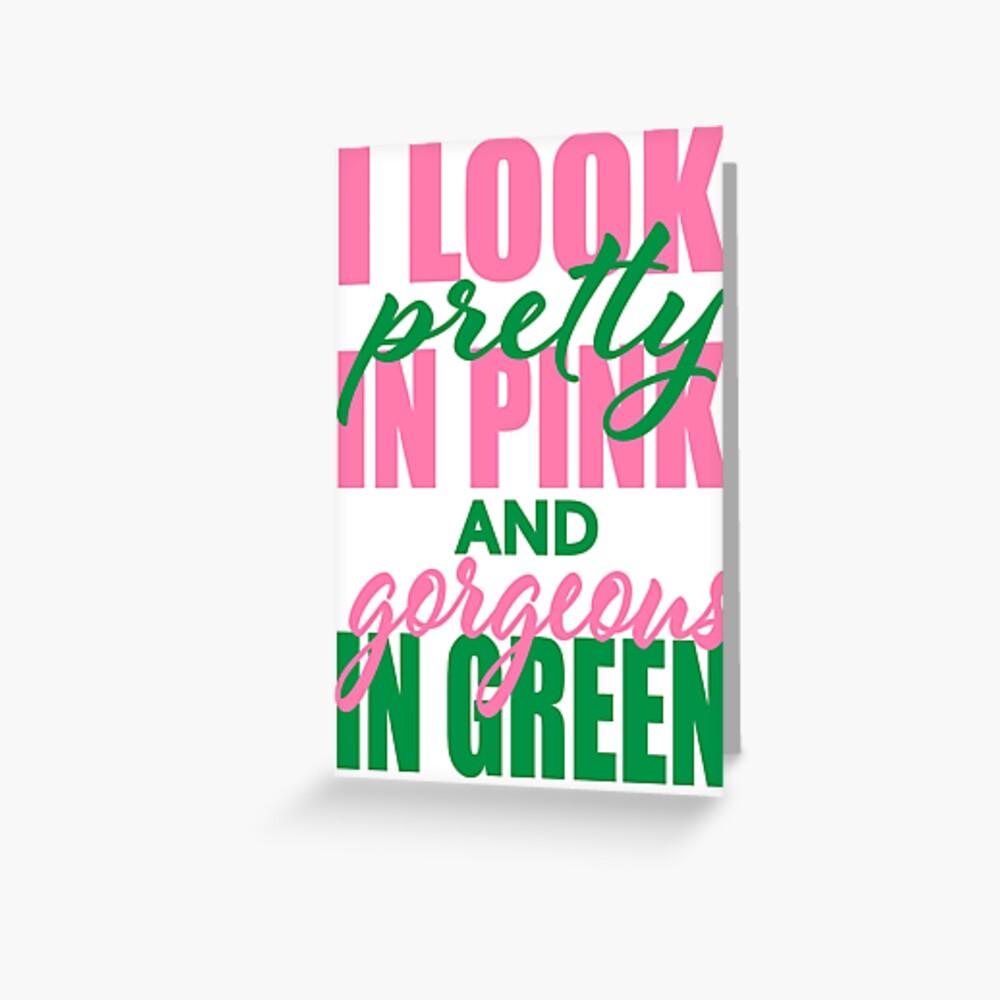 Ich sehe Pretty in Pink aus Grußkarte