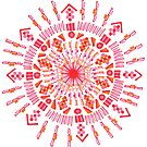 Heart of the Sun Mandala by suzanneran
