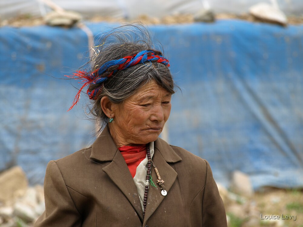 Old Tibetian Woman by Louise Levy