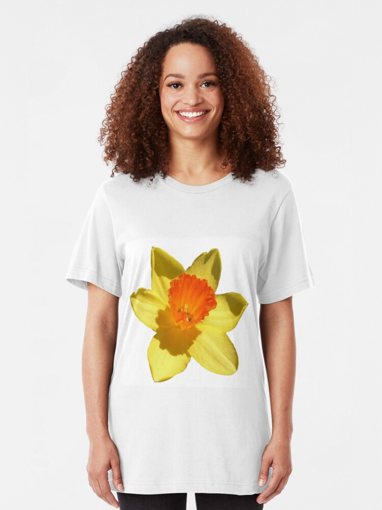 Spring Daffodil Isolated On Hot Pink 3dRose Taiche Vector Art T-Shirts Daffodil