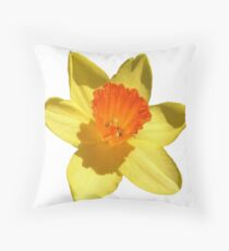 Daffodil Emblem Isolated On White Floor Pillow