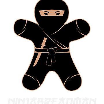 Ninja gingerbread man Ginja | Ninja Breadman | Funny Christmas sweater as a gift for Christmas for Gingerbread lovers by ArtTeez