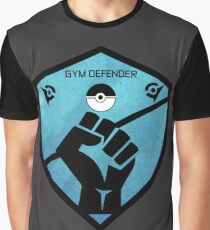 Gym Defender - Blue Graphic T-Shirt