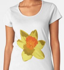 Spring Daffodil Vector Isolated Women's Premium T-Shirt