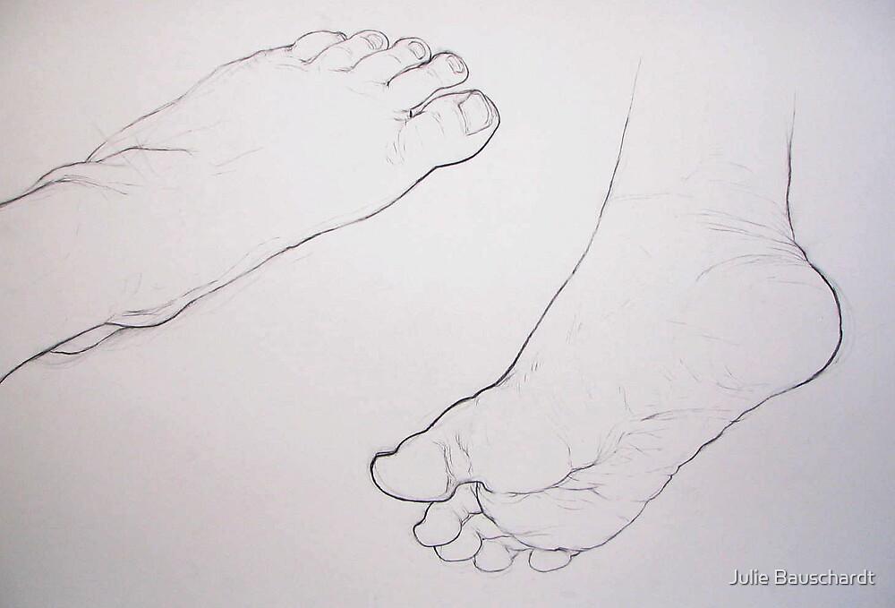 foot study 1 by Julie Bauschardt