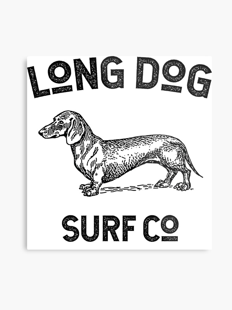 Long Dog Surf Co Logo Metal Print By Longdogsurfco