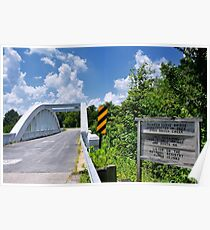 Marsh Arch Bridge on Route 66.  Poster