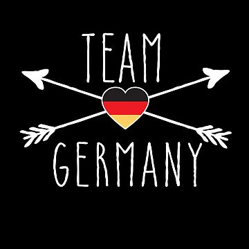 TEAM GERMANY with Arrows and Flag by Greenbaby