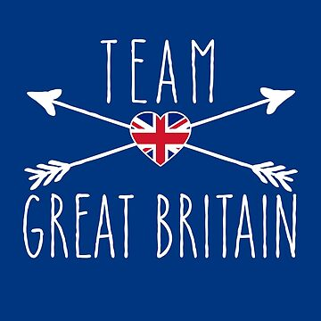 TEAM GREAT BRITAIN with Arrows and Flag by Greenbaby