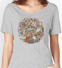 Elegan Doodle Women's Relaxed Fit T-Shirt