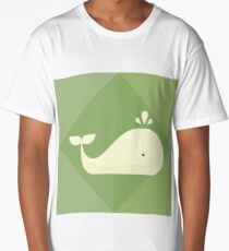 Whale on green Long T-Shirt
