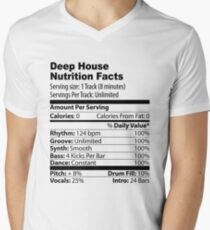 Camiseta de cuello en V Deep House