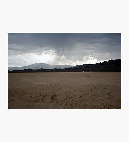 Rain on Roach Dry Lake Photographic Print