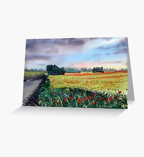 """Forty Acres Farm"" Greeting Card"