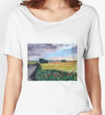 """""""Forty Acres Farm"""" Women's Relaxed Fit T-Shirt"""
