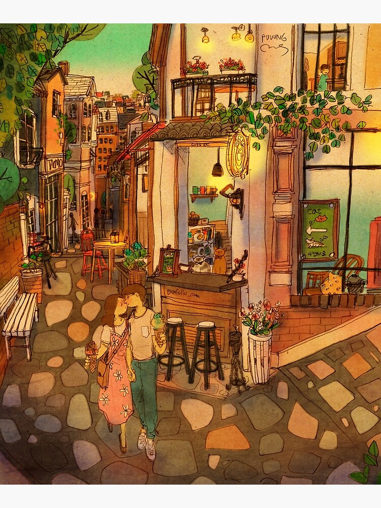 Alley of cafés by puuung1
