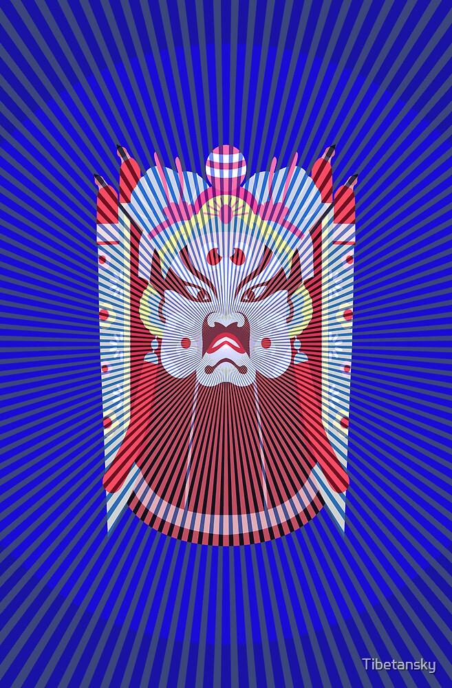 Chinese opera mask by Tibetansky