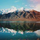 New Zealand mountain landscape with authentic light leak by Karin Elizabeth