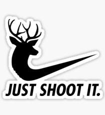 ust Shoot It Funny Hunting Nike Deer Fashion Sticker