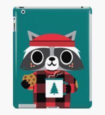 Raccoon in Red Buffalo Plaid Sweater iPad Case/Skin