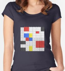 Mondrian Toy Bricks Women's Fitted Scoop T-Shirt