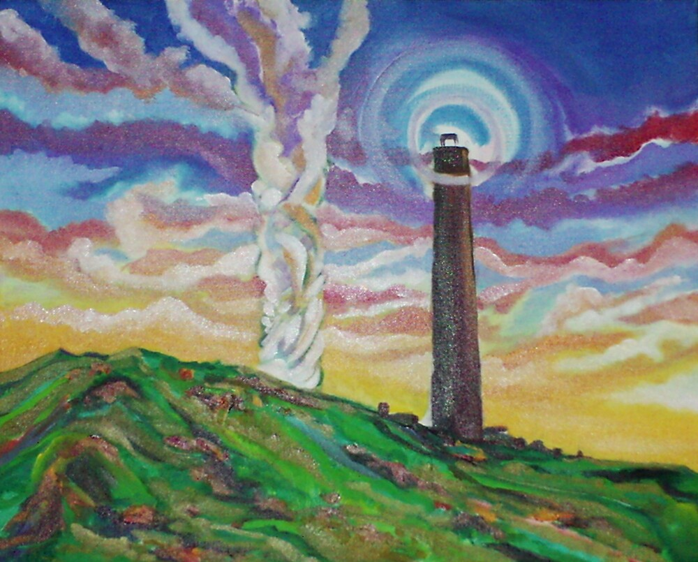 The Stack and Tower (In Progress) (Oils)- by Robert Dye