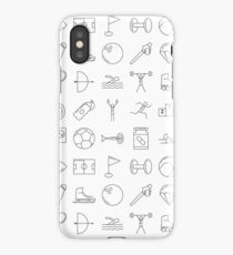 Sport Pictograms Olympic Style Pattern iPhone Case/Skin