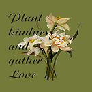 Plant Kindness and Gather Love Proverb With Daffodils by taiche