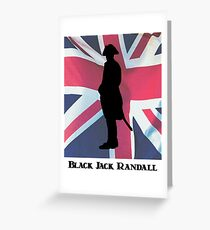 Black Jack Randall Sillhouette Greeting Card