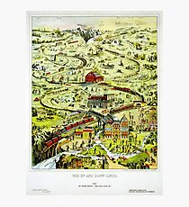 England Up and Down Lines Railway Vintage Poster Photographic Print