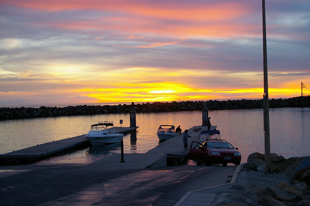 Boat ramp at sunset by janfoster