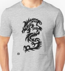 Black Only Chinese Tribal Dragon Unisex T-Shirt
