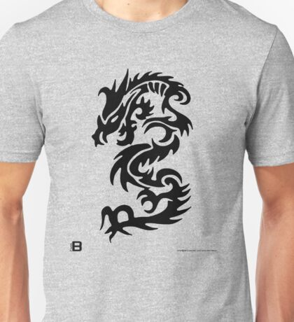 Black Only Chinese Tribal Dragon T-Shirt