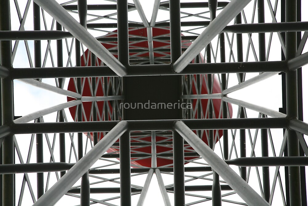 The Eiffel Tower in Paris Texas...from the Bottom by roundamerica