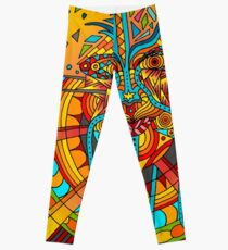 58 Fragmented mind - colorful Leggings
