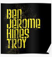 Ben Jerome Hines Troy / Black Poster