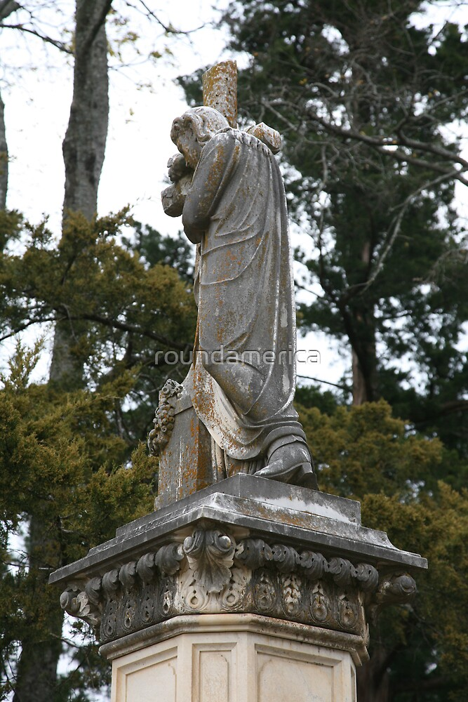 14-foot Cemetery Monument with Jesus wearing Cowboy Boots by roundamerica