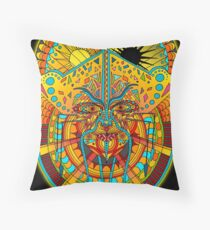 58 Fragmented mind - colorful image Throw Pillow