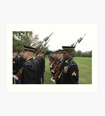 US Army 3d Infantry Regiment - Marches with Bayonet Fixed Art Print