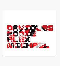 David Lee Eddie Alex Michael Photographic Print