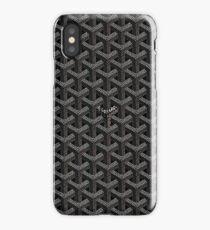 Black Goyard Paris iPhone Case/Skin