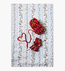 knitted with love Photographic Print