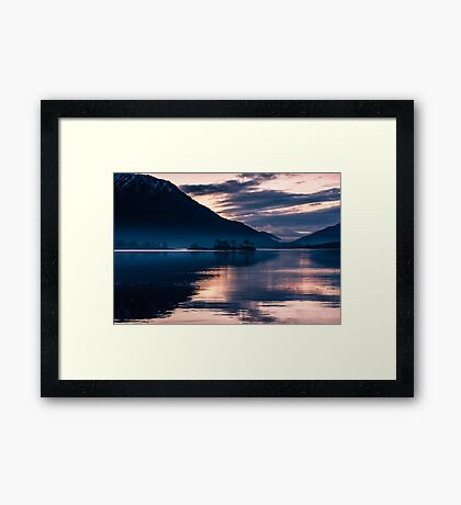 Invercoe Sunset Framed Print