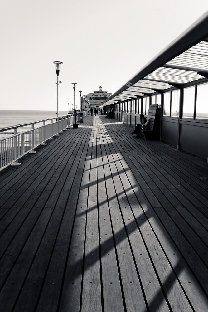 Pier BW by Shekhar