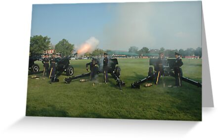 US ARMY 3d Infantry Regiment - The OLD GUARD - Presidential Salute Battery by John Michael