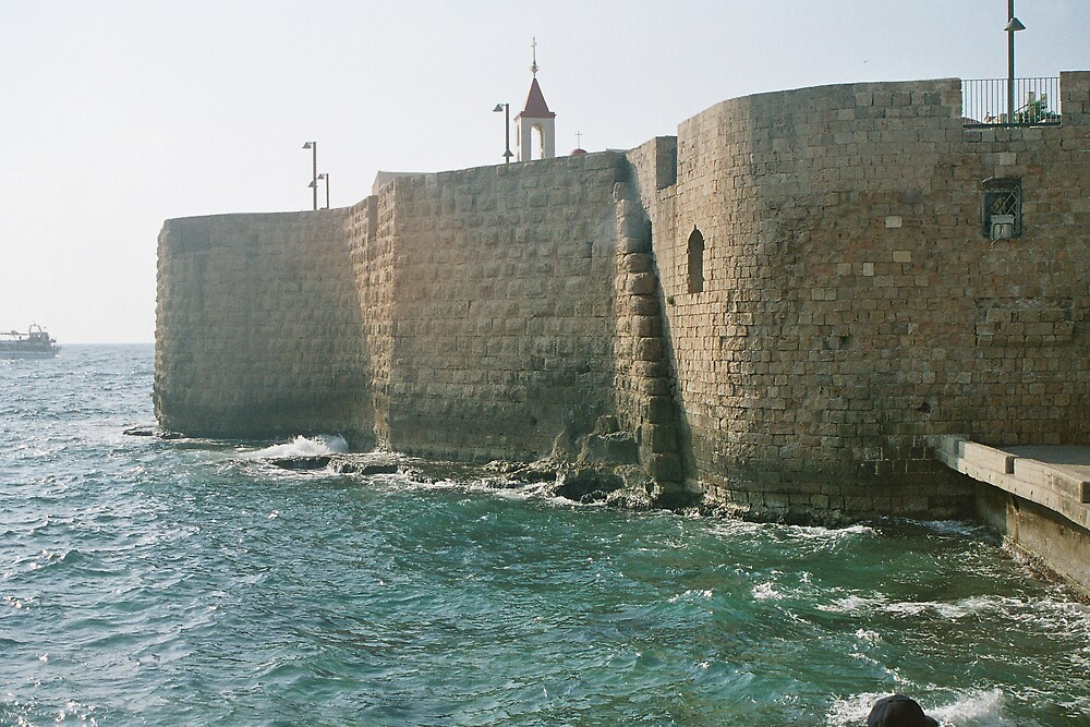 Akko - the wall by the sea by Ilan Cohen