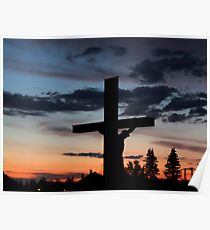 Sunrise over the cemetery Poster