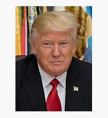 Präsident Donald Trump Portrait Fotodruck