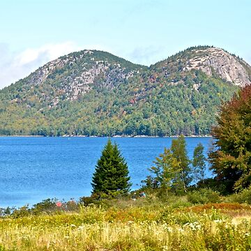 Jordan Pond, The Bubbles, Early Fall, Acadia NP, Maine by mdidrh