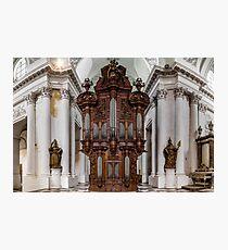 Belgian abbey Floreffe interior panoramic view, beautiful wooden decoration, Belgium Photographic Print